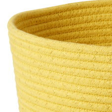 Round Rope Storage Basket In Yellow By Rice DK Vibrant Home